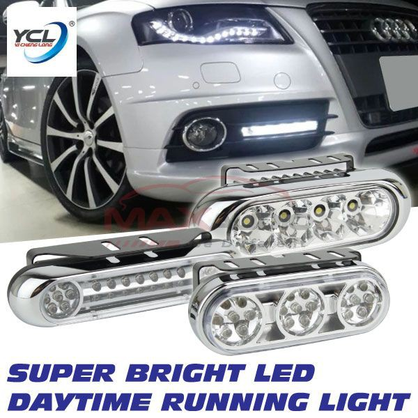 [FREE Gift] [CLEARANCE] YCL 12V Universal Fits Super Bright DRL Daytime Running LED Light (Pair)