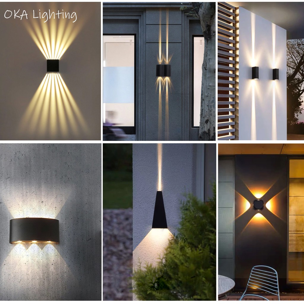 Modern Outdoor Wall Light Nordic Outdoor Lighting Waterproof Ip65 Wall Lamp Decoration Living Room Bedroom Wall Light Shopee Malaysia