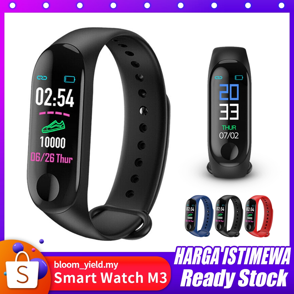 M3 Waterproof Bluetooth Smart Watch Fitness HeartRate Phone Mate For  Android iOS