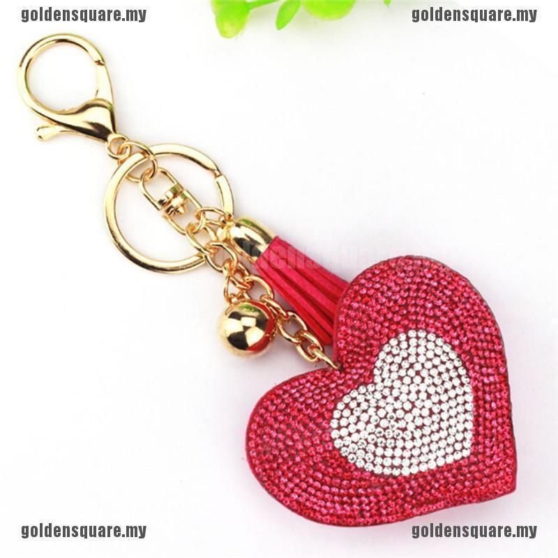 Crystal Rhinestone Handbag Charm Pendant Keychain Bag Keyring Key Chain