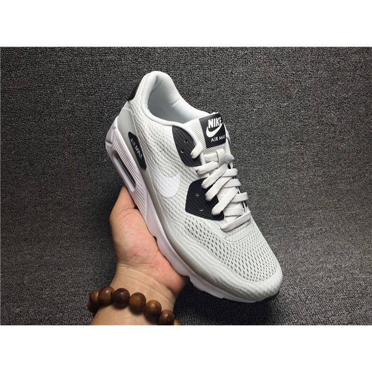 new style 92d51 c5da1 free ship nike air max 90 flyknit ultra essential grey black for mens wmns  shoe