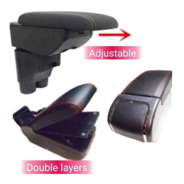 Honda City 2014-2019-Premium Armrest With 7 USB Port