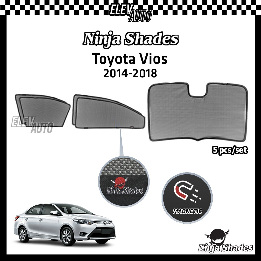 Toyota Vios (2014-2018) Ninja Shades OEM Magnetic Sunshade
