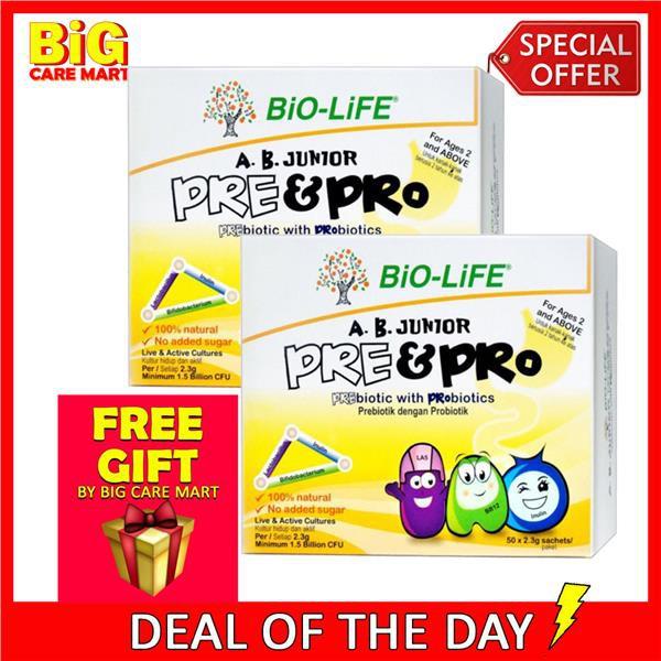Bio-Life AB Junior Pre & Probiotics Kids 2.3g 50s X 2box + GIFT