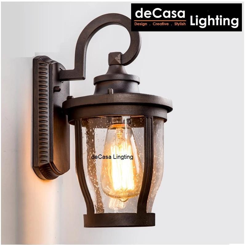 deCasa Lighting Best Seller Outdoor Wall Light Glass Outdoor Lighting Outdoor Wall Lamp Lampu Dinding (8002)