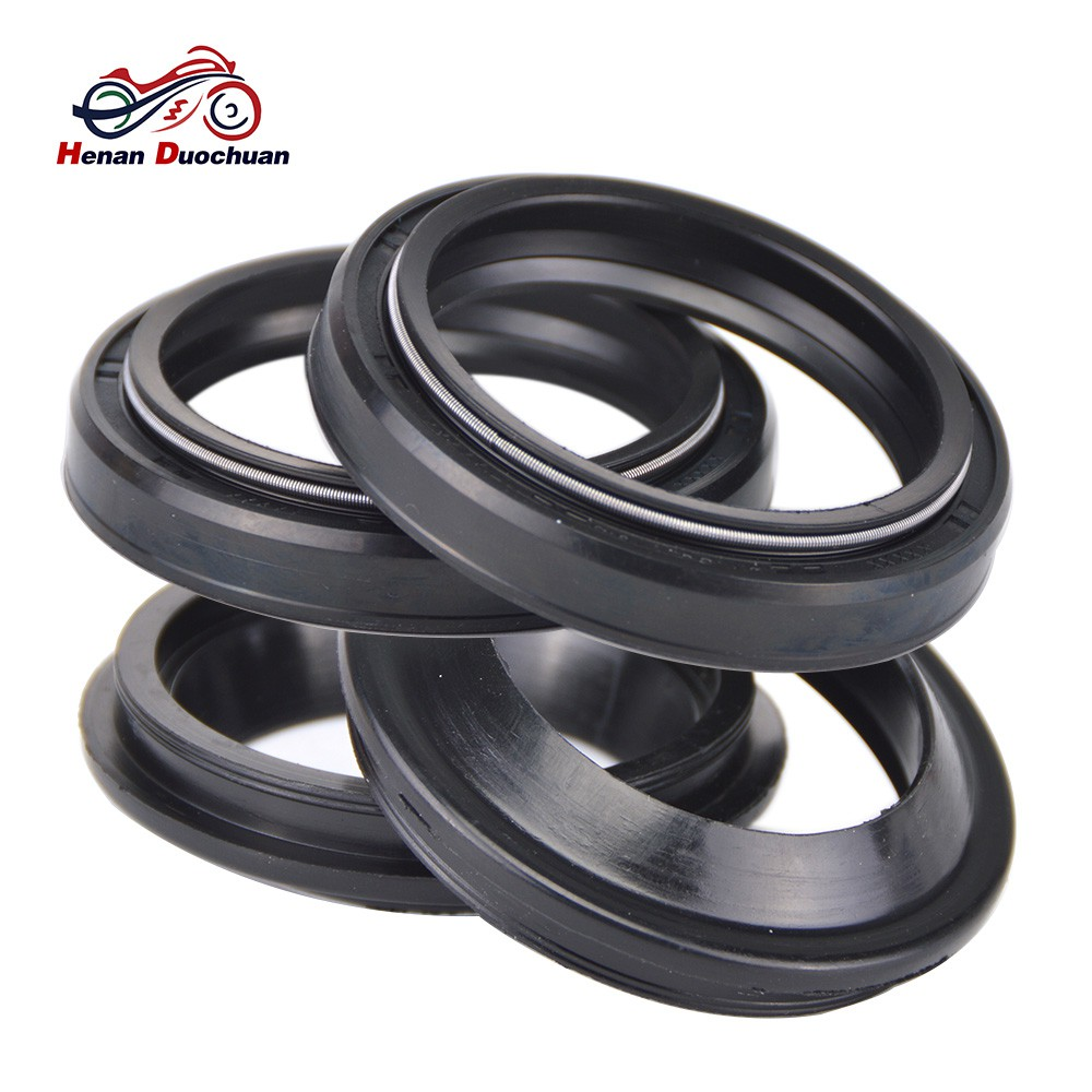 4pcs 41x53x8 Motorcycle Rubber Shock Absorber fork Oil Seal and 41x53 Dust  Cover
