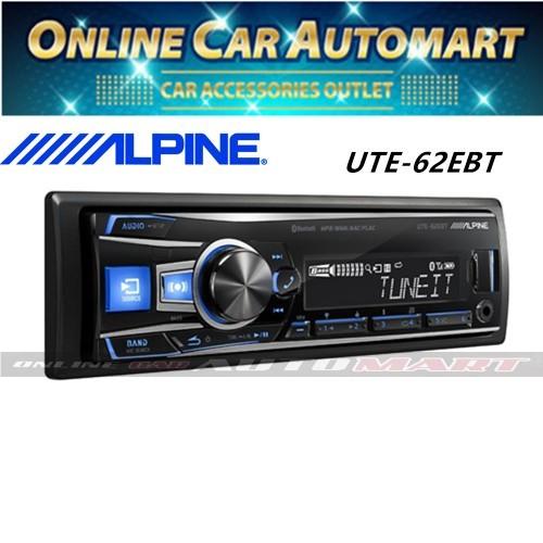 Alpine UTE-62EBT Single DIN Bluetooth USB Aux Car Stereo Receiver (NO CD)