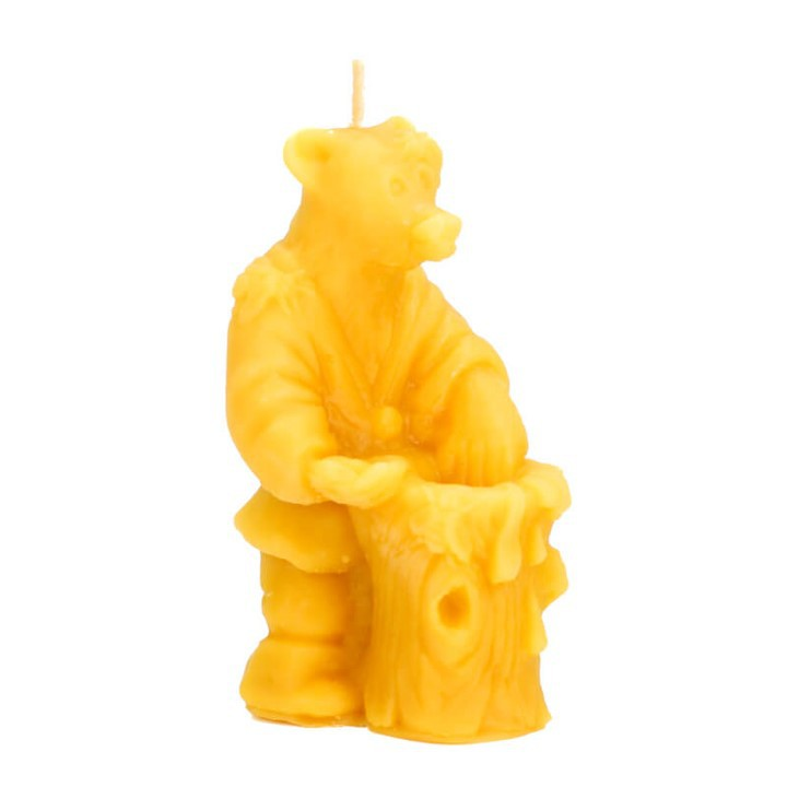 Honey Land™ Beewax Candle – Bear and Barrel (130g)/lilin wax lebah Eco-friendly Gift Home Decor Lilin Hiasan [GIFT IDEA]