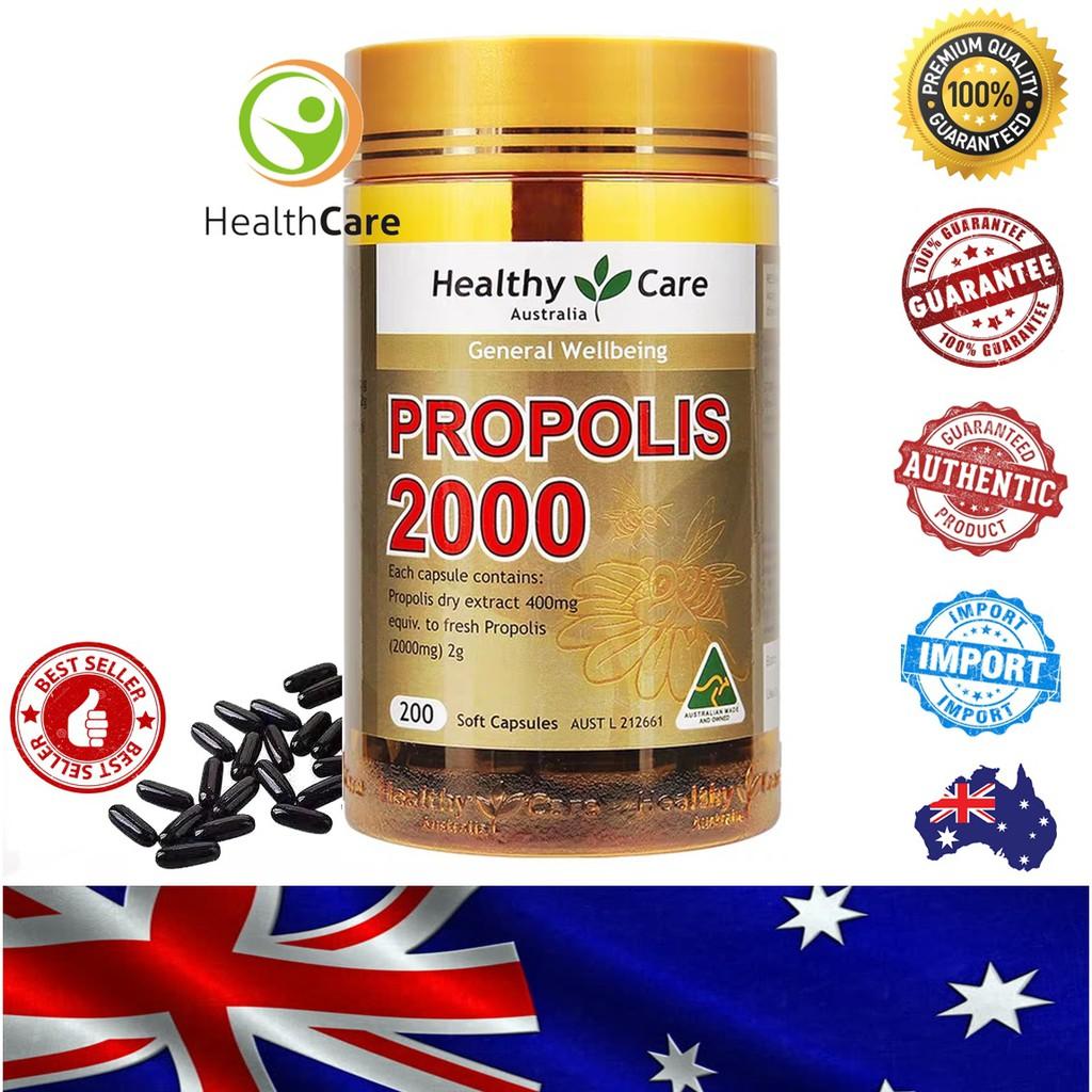 【Ready Stock】Healthy Care Propolis 高浓度黑蜂胶 20000mg (200 Capsule)