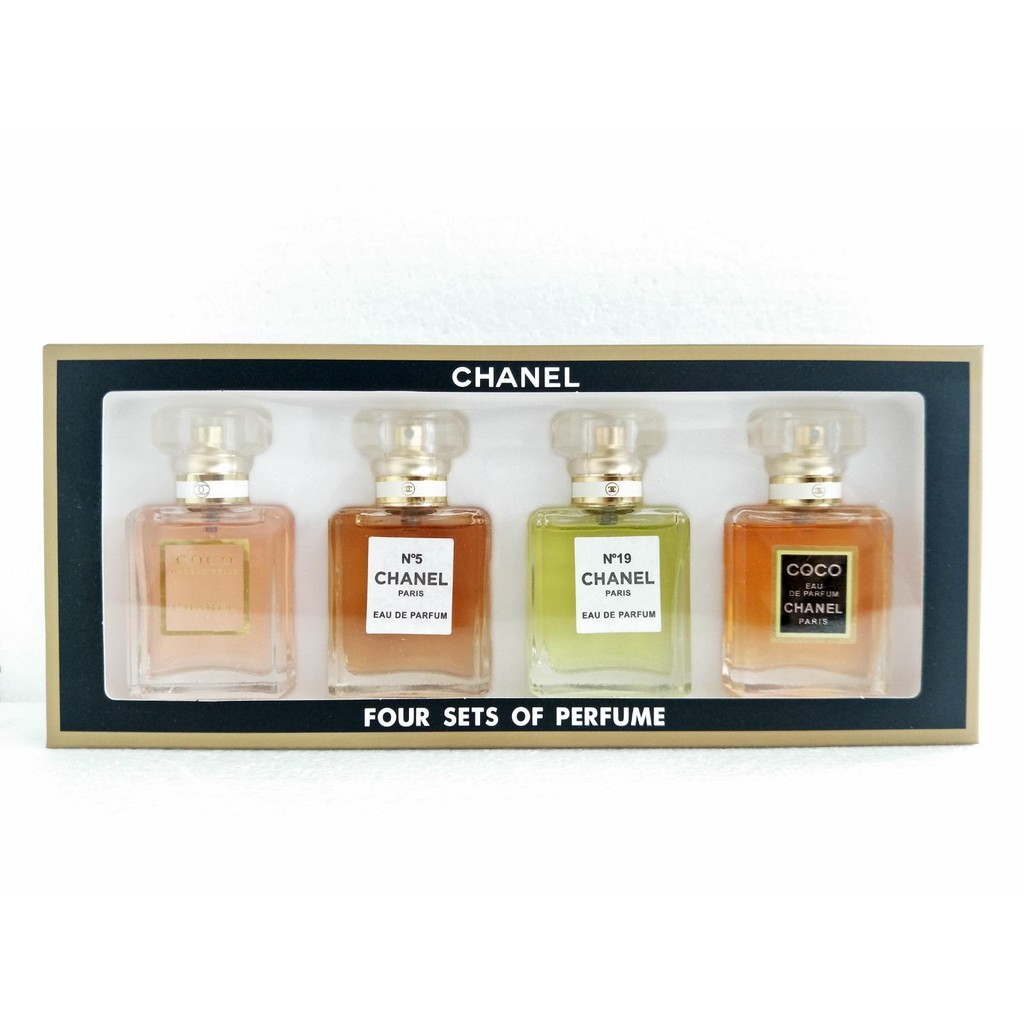 852b0626 Chanel Perfume (4 in 1) Variety Gift Set Miniature Chanel Perfume eau de  10ml