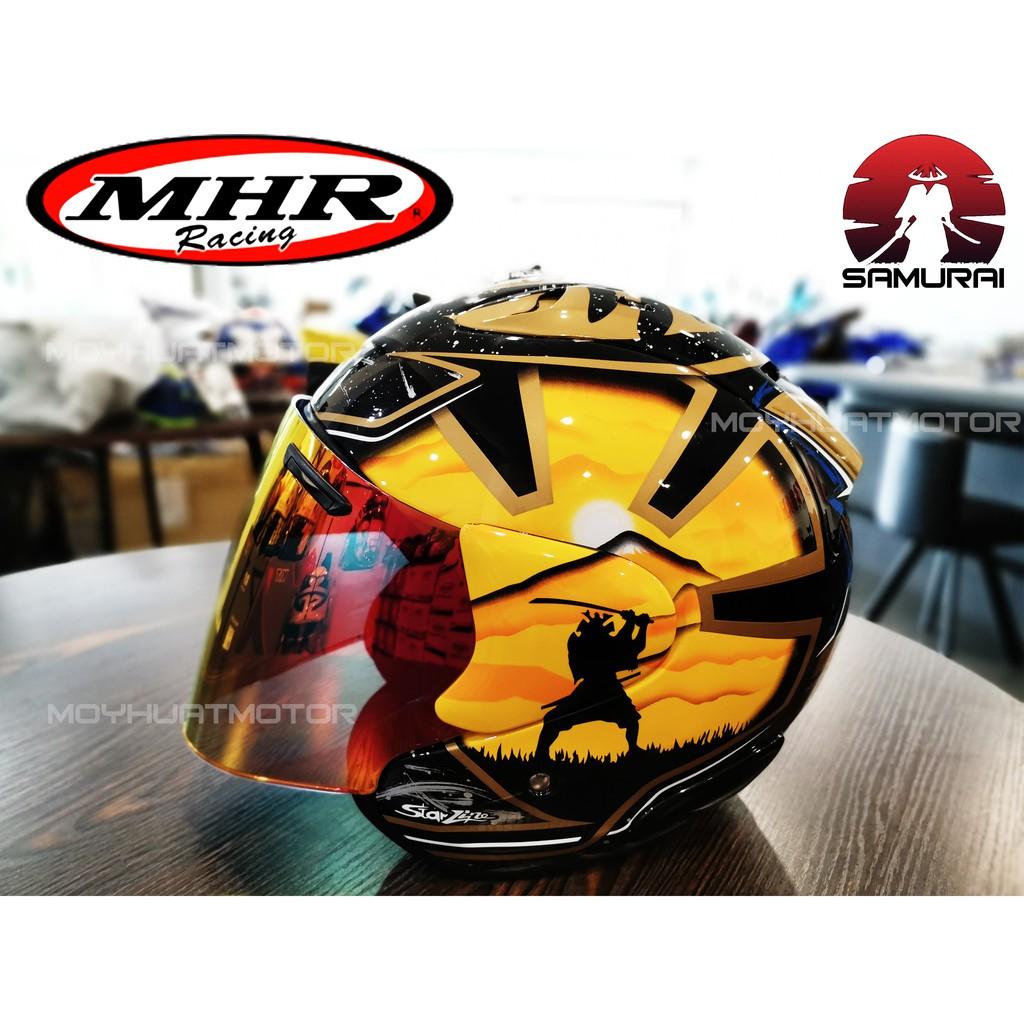 Original Mhr Samurai Helmet Arai Design Helmet With Sirim Of518 Mhr Helmets Shopee Malaysia