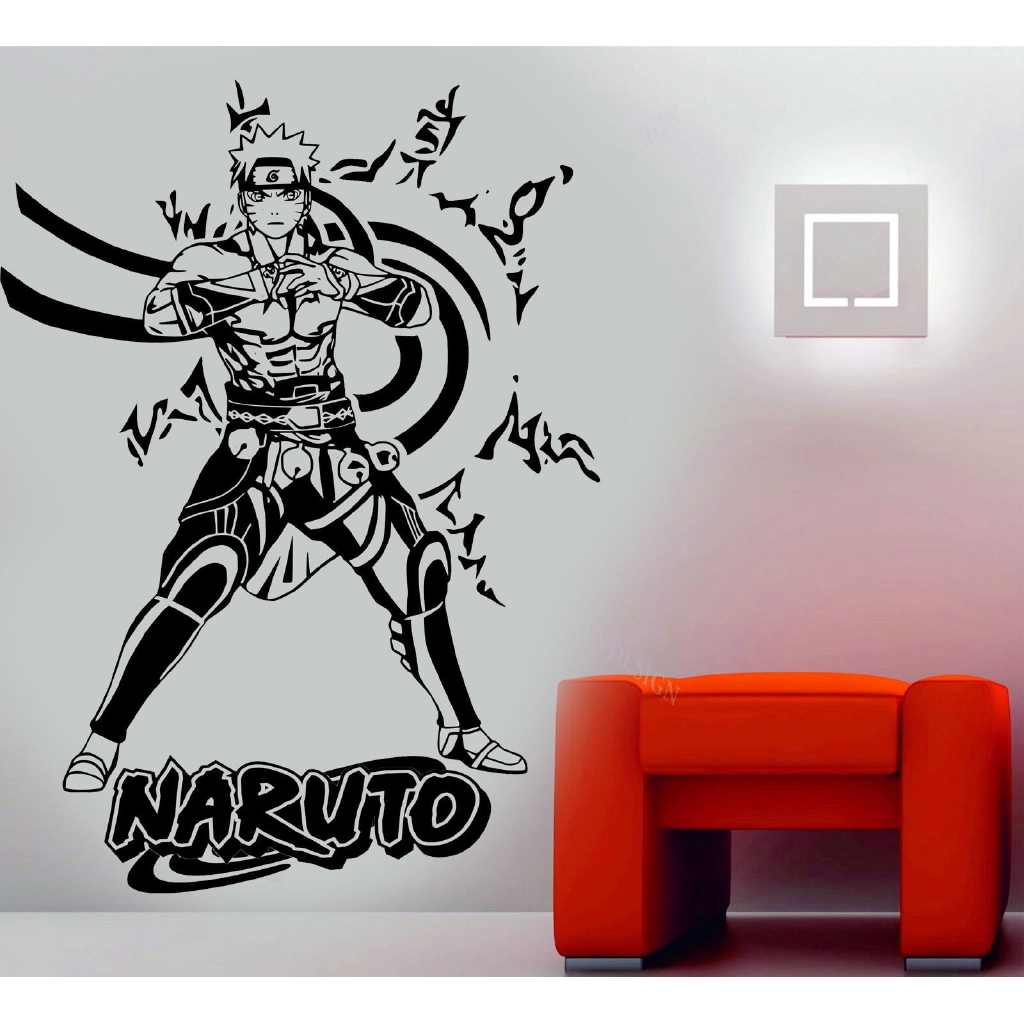 3d Poster Naruto Cartoon Wall Stickers