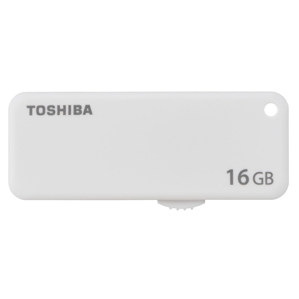 Toshiba U203 Yambiko 16GB USB 2.0 Flash Memory Drive White Color THN U203W0160