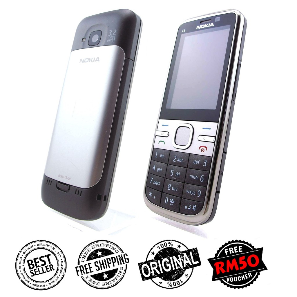 🇲🇾 Original Nokia C5 C5-00 Premium Newly Refurbished Phone Full Set [1 Month Warranty] FREE RM50 Voucher
