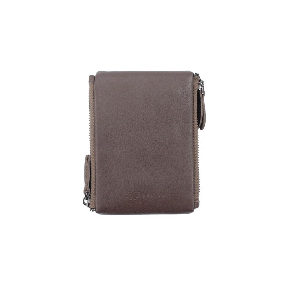 RAV DESIGN Men's Genuine Leather Anti-RFID Card Holder |RVW666G1 (C)/(D)