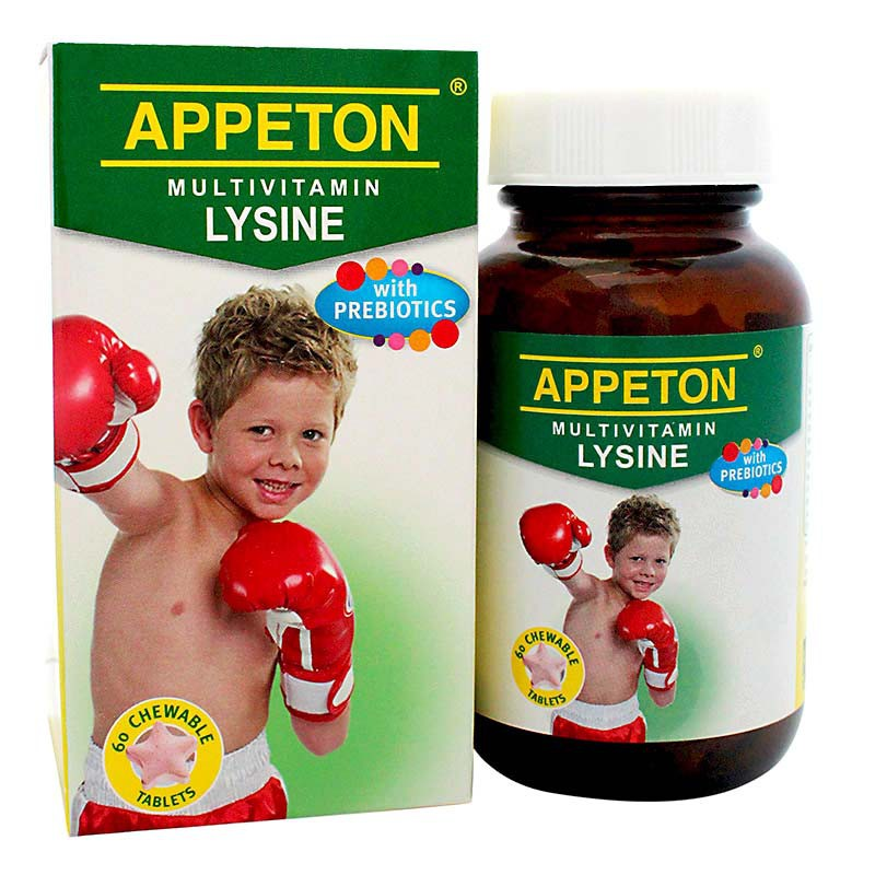 Appeton Multivitamin with Lysine Chewable Tab 60's
