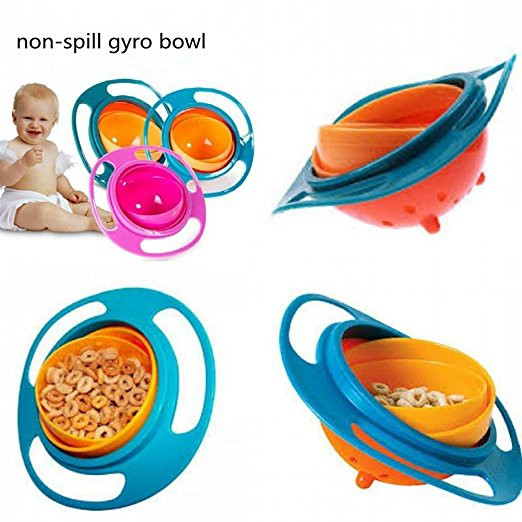 Bowls & Plates Feeding Kids No Spill Food Gyro Bowl Good Heat Preservation