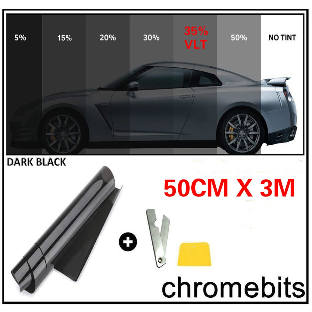 Variance Auto Tinted Films for Car Complete Kit Black 35