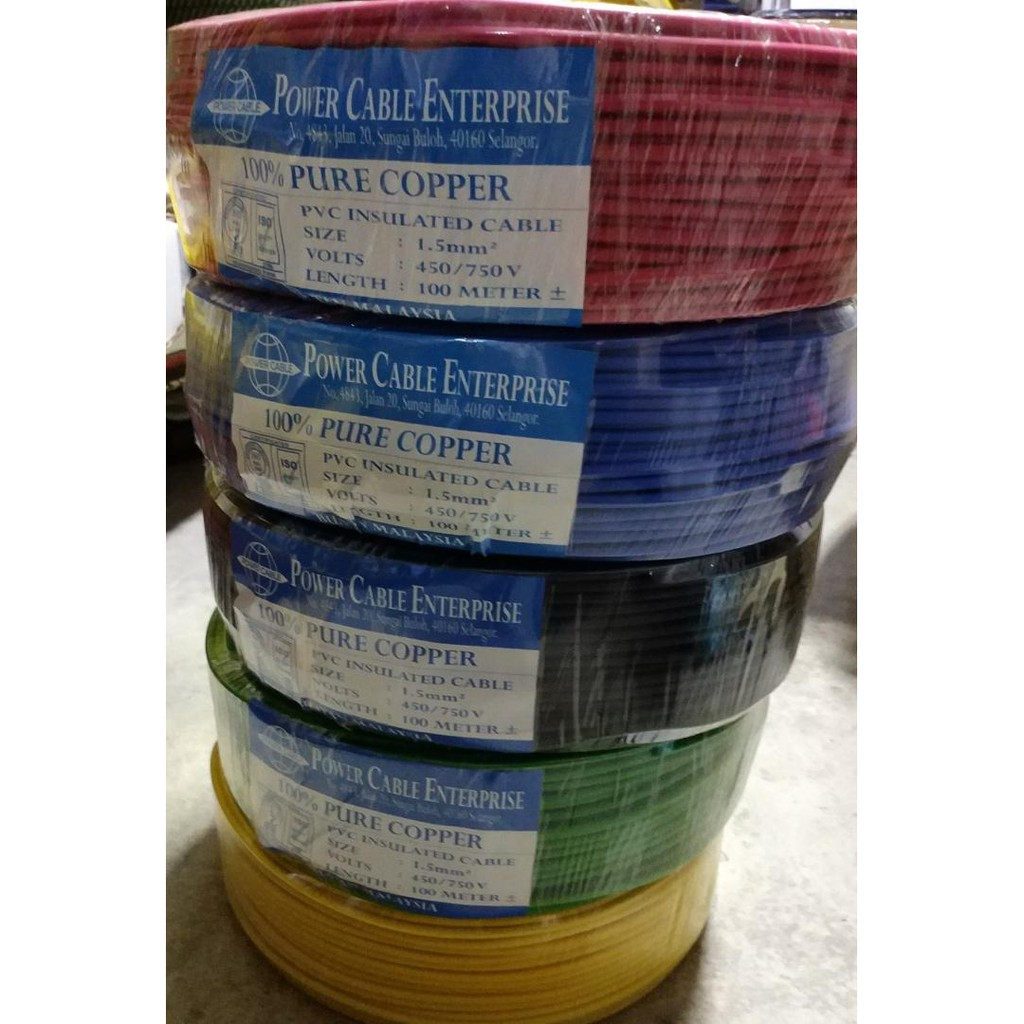 Electrical 2 Core Wire 100 Pure Copper Pvc Speaker Cables Rohs Cable House Wiring 10meter Shopee Malaysia