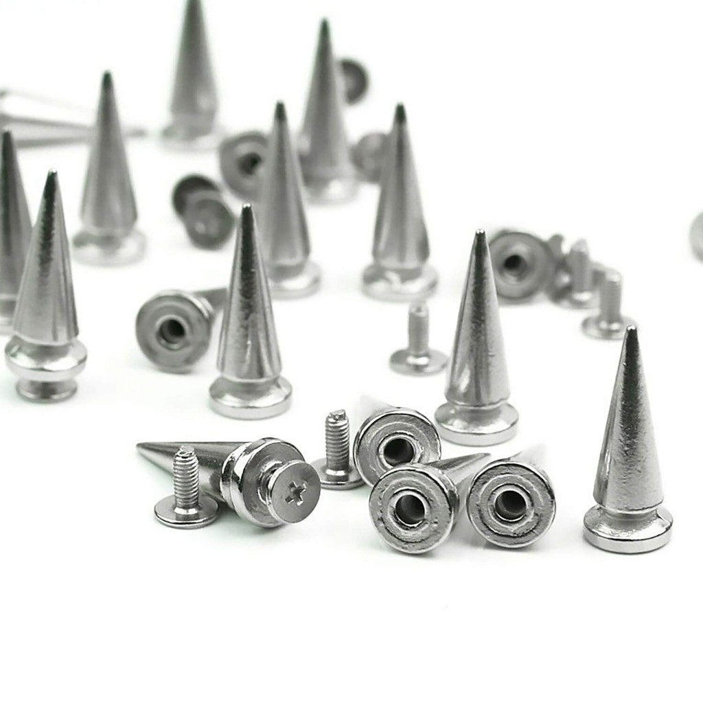 2 7mm x 15mm Leather Rivet Screw Spike No