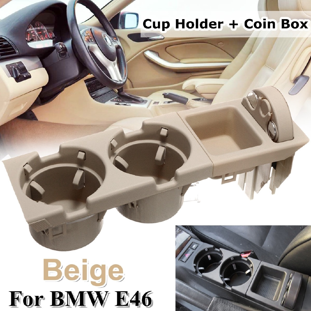 Front Center Console Drink Cup Holder Storing BOX For BMW E46 3 Series 1999-2006