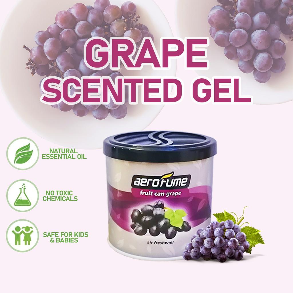 Aerofume Natural Scent Fruit Scented Gel (Grape) 70g Car Perfume Air Freshener Room Fragrance Pewangi Kereta