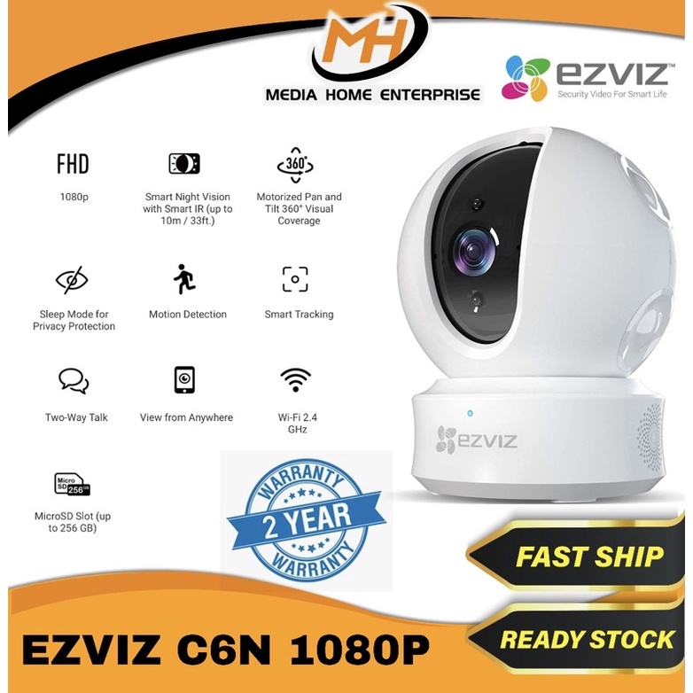 Ezviz Indoor Wireless Camera C6N 1080p/TY2 1080p/TY1 920P