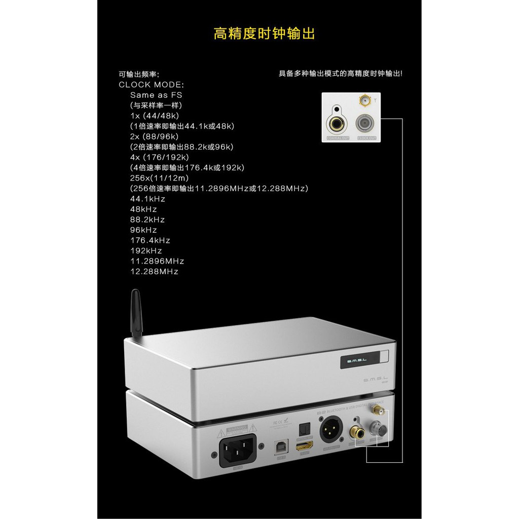 SMSL B2 Desktop Digital XMOS USB DAC Audio Amp Hifi
