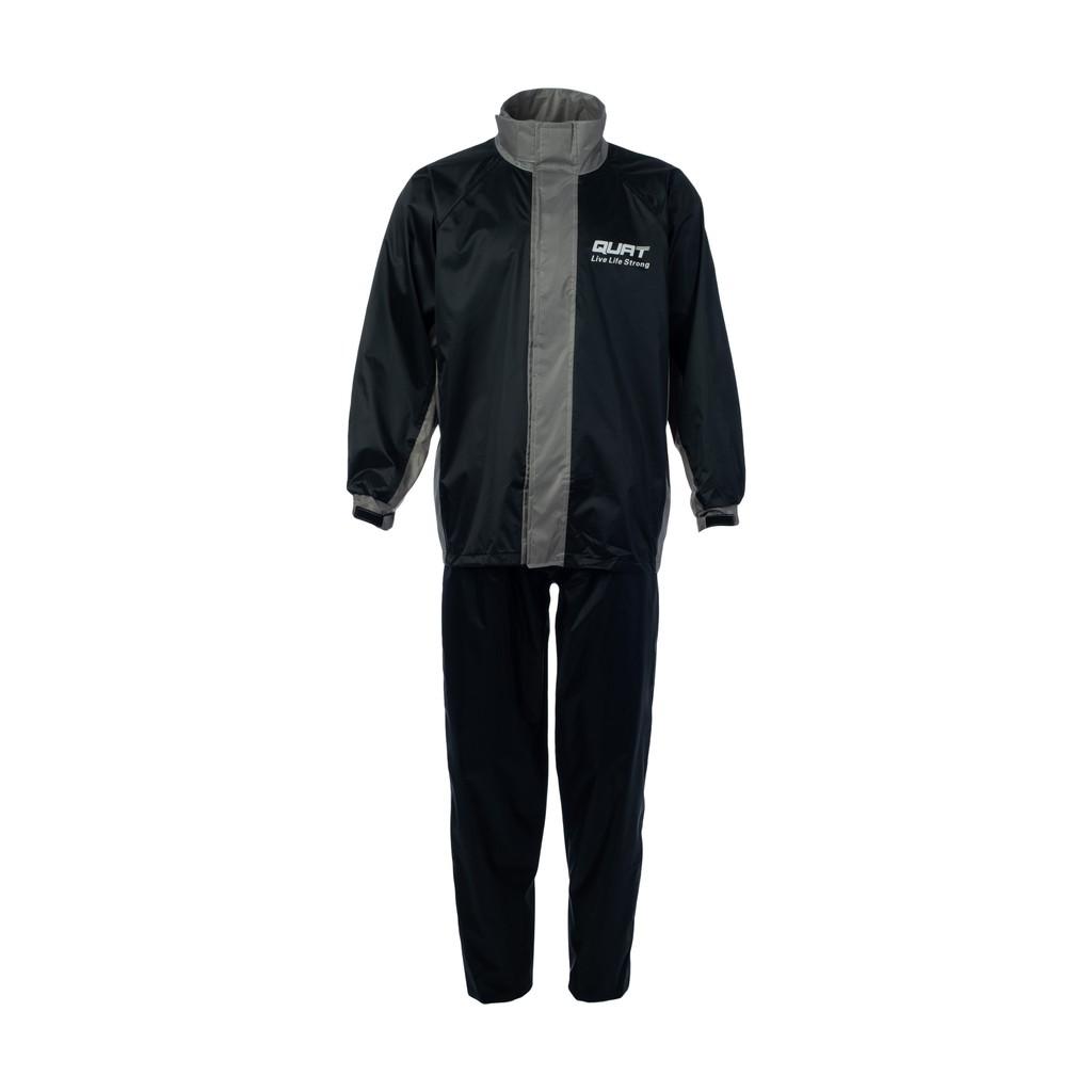 Raincoat QUAT Rain-Suit Q21 GREY Motorcycle (Shirt+Pants)