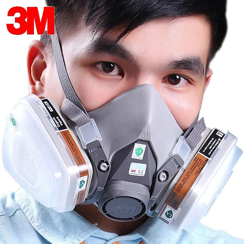 For 6800 Gas Mask Full Face Facepiece Respirator 7pcs Kit Painting Spraying Mask Grey Cleaning The Oral Cavity. Festive & Party Supplies