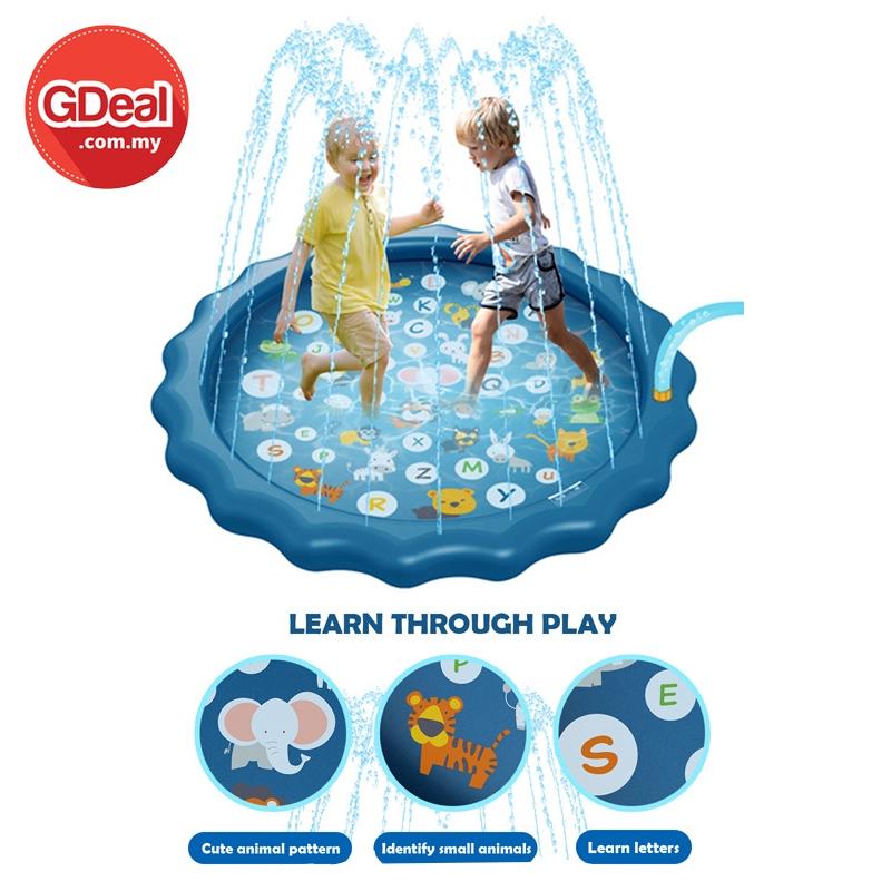 GDeal Kids Outdoor 170CM Water Spray PVC Play Fun Learning Game Pad Permainan ڤرماءينن