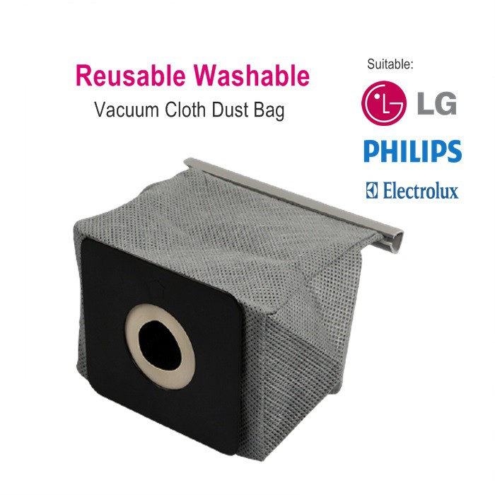Reusable Washable Vacuum Cleaner Cloth Dust Bag Suitable for Pensonic, Electroulux, LG, - PVC-31A PVC-25A, PVC-22B