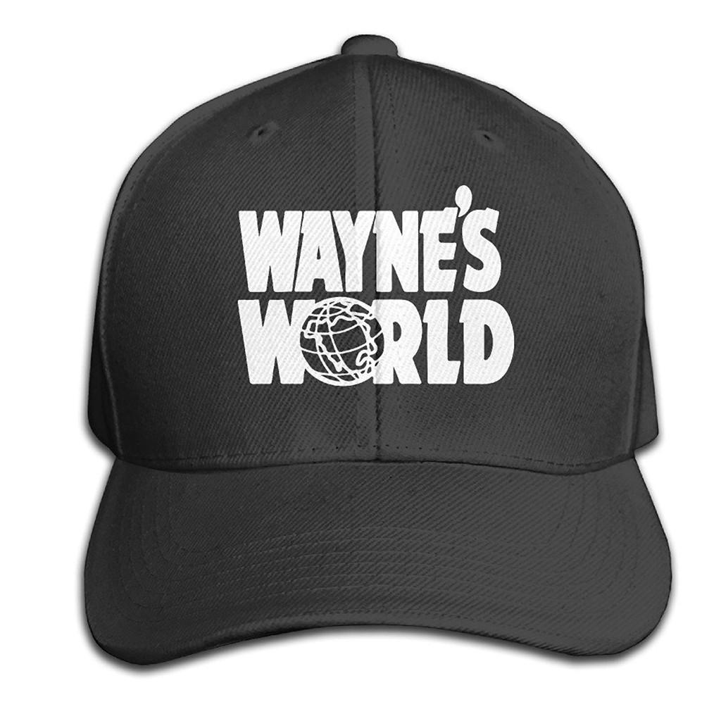 c195e62d78f Unisex Wayne s World Logo Film Series Funny Sandwich Cap Trucker Hats
