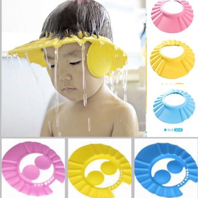 เลือกรุ่นดีๆก่อนสั่ง หมวกอาบน้ำเด็ก หมวกกันแชมพูเข้าตา โฟมeva *แบบบาง แห้