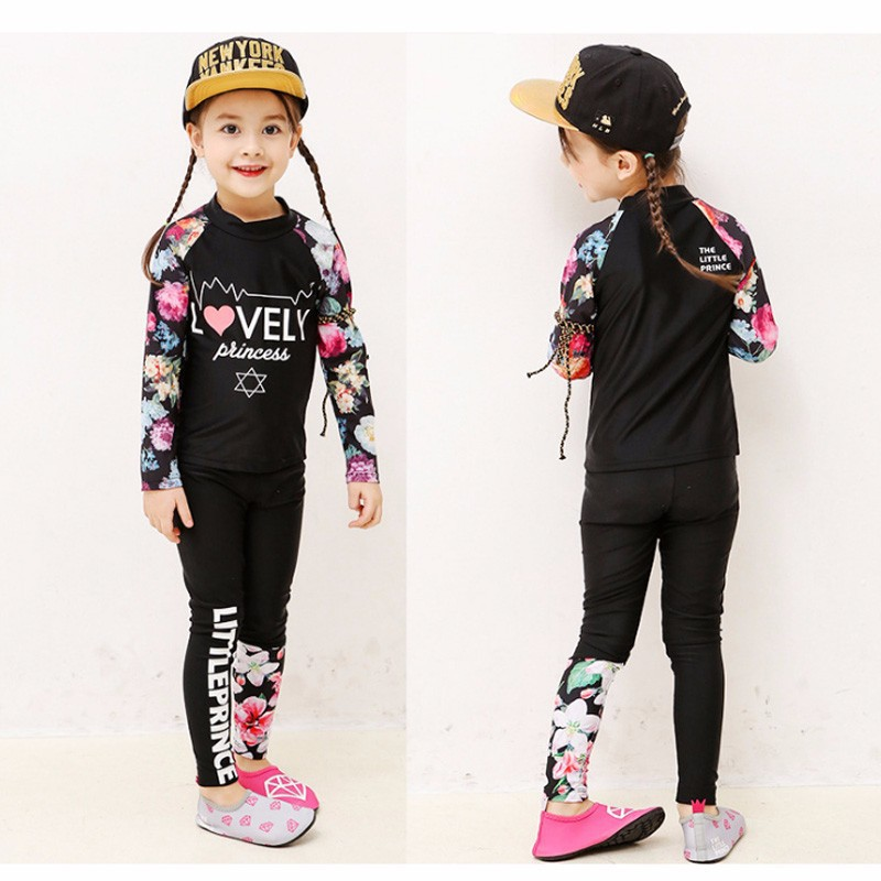 7d24bc403d ProductImage. ProductImage. Kids Girls Swimming Suit Swimwear Korean  Swimsuit Baby Long Sleeve Swimsuit