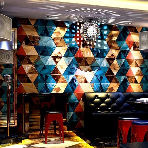 Semicircular Ktv Room Interior Design: Modern Ktv Room 3D Fashion Design Wall Decoration Interior