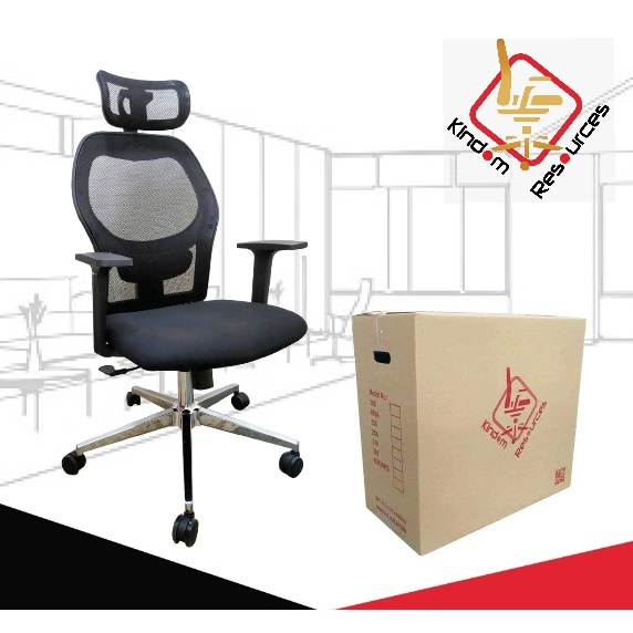 Office Executive High Back Chair Model 501 (Warranty 2 Year)(High Quality) Kerusi Pejabat Office Chair Home