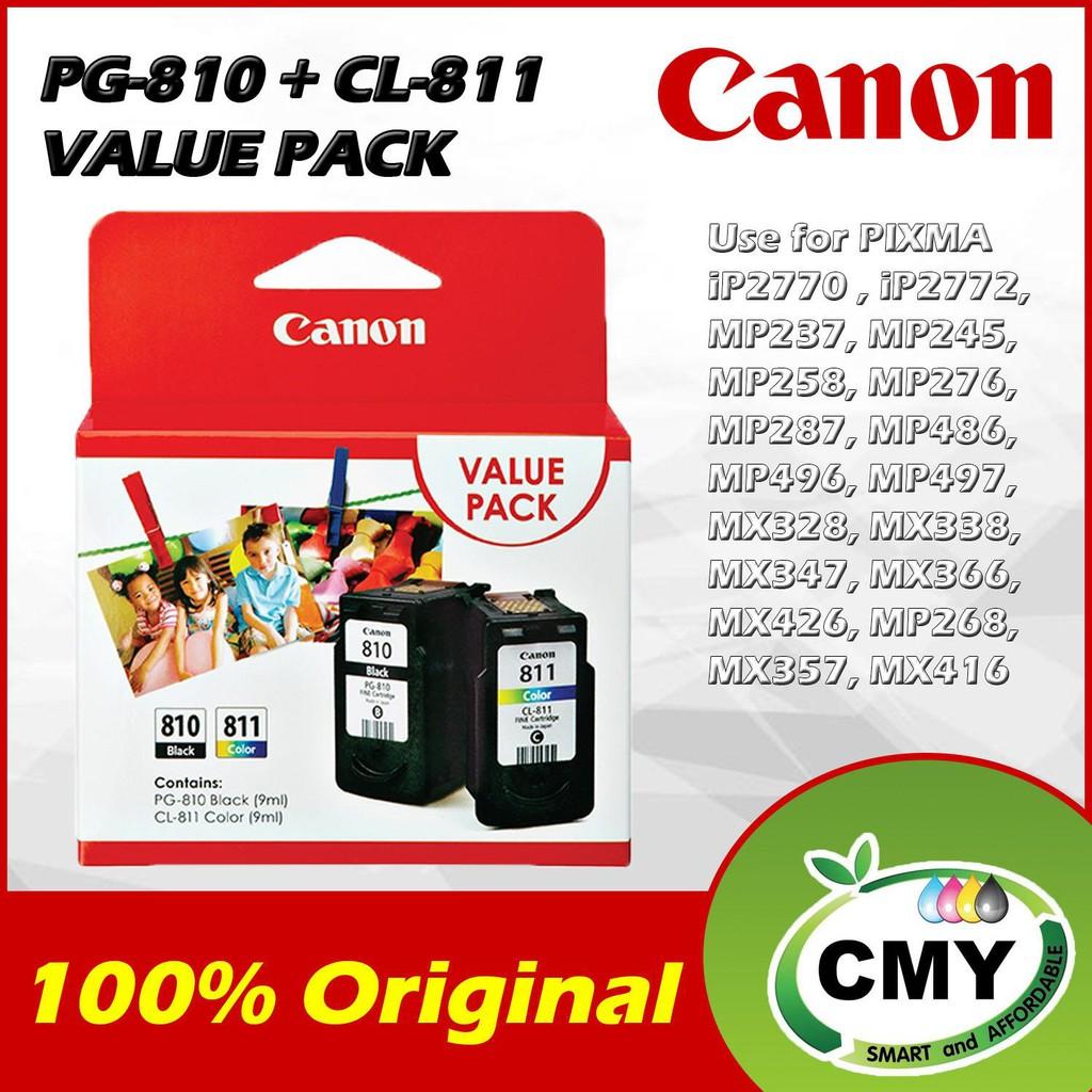 Genuine Original Ink Canon PG 810 + CL 811 - Value Pack