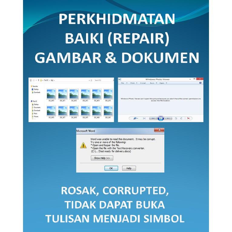 Photo Document Repair Service Perkhidmatan Baiki Gambar Dokumen Shopee Malaysia