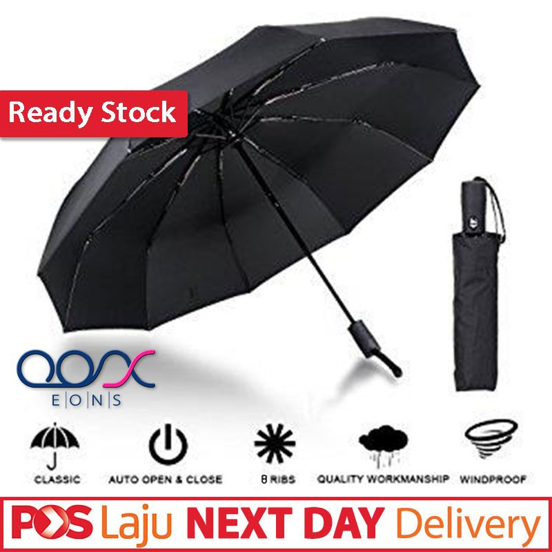 a85dcbbf7d42 READY STOCK💖 Automatic Auto Open Close Ultra Strong Foldable Windproof  Compact Umbrella Quick Operation Sturdy