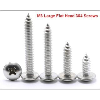 10pcs M5 M6 M8 Cross Round Flat Head Screw 304 Stainless Steel Machine Repair