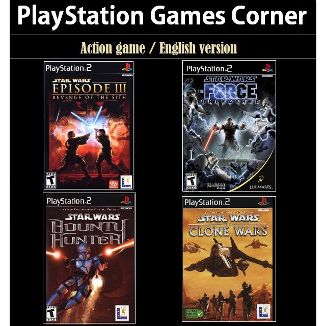 Ps2 Game Star Wars Bounty Hunter The Force Unleashed Revenge Of The Sith Action Game English