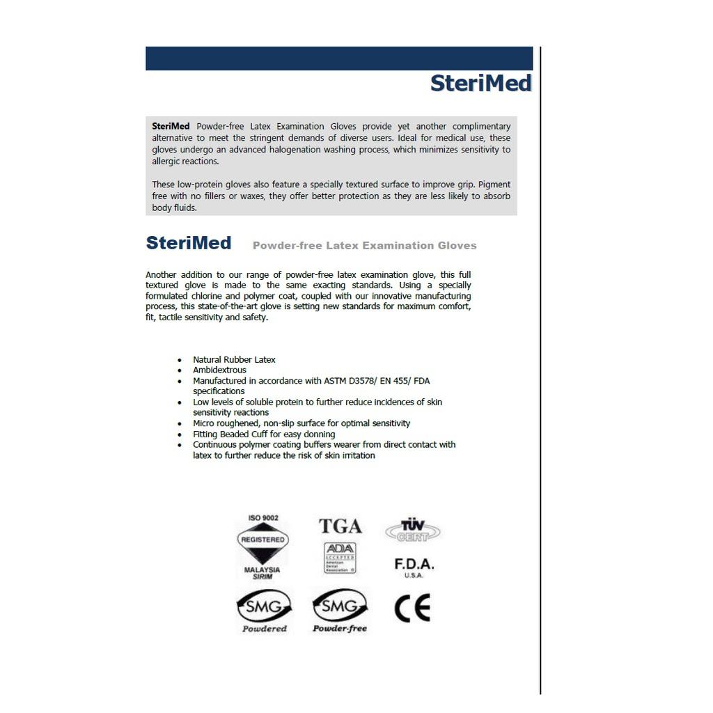 Sterimed Latex Powderfree Examination Gloves | Shopee Malaysia