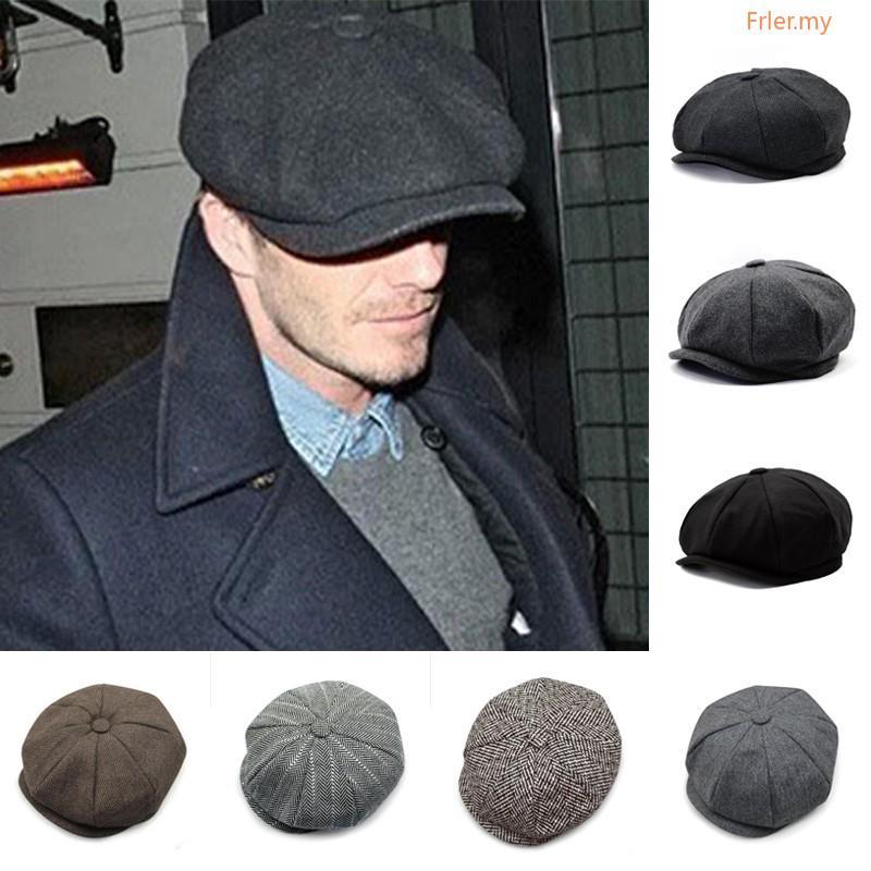 a8d75bd161 Flat Cap Baker Boy Newsboy Hats Unisex Tweed Cap Vintage Style Check ...