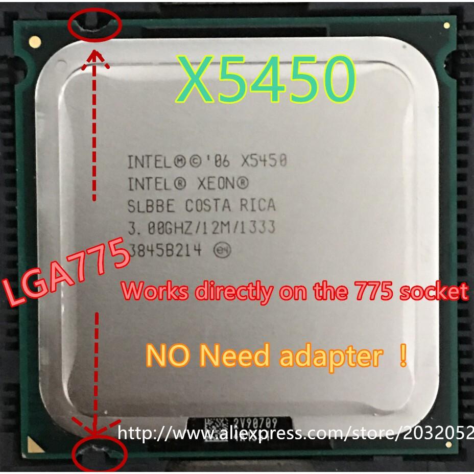 lntel Xeon X5450 3 0GHz 12M 133hz CPU equal to LGA775 Core 2 Quad Q9650 CPU