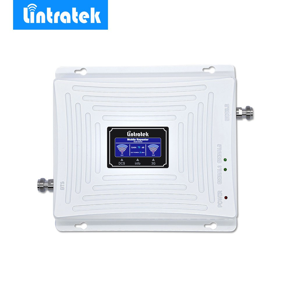 Lintratek 3G 4G Signal Repeater Booster Amplifier 1800MHz 3G 2100MHz 4G LTE