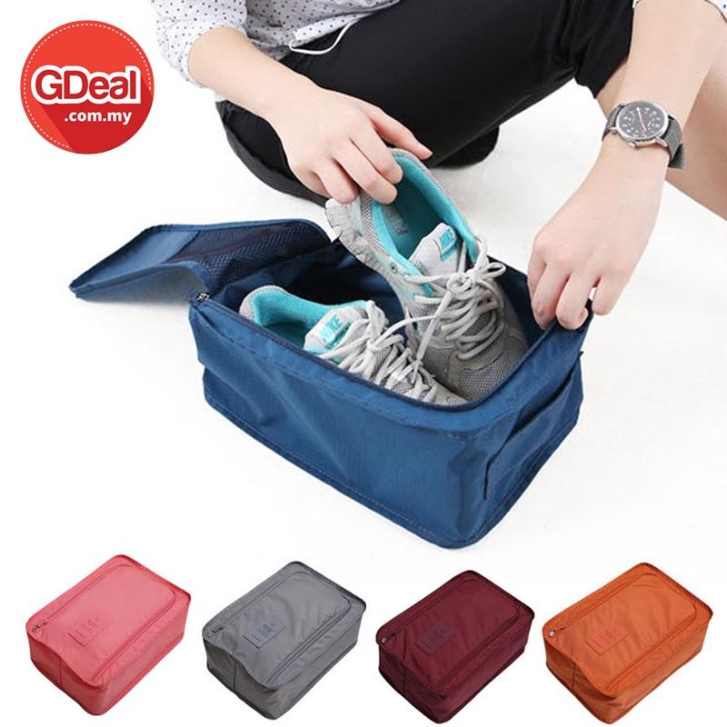 GDeal Folding Shoes Nylon Pouch Cover Travel Waterproof And Dustproof Bag Beg Kasut بيڬ كاسوت