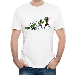 eb89df0f15caf New Pickle Evolution Rick And Morty Cartoon Cotton Men s T Shirts ...