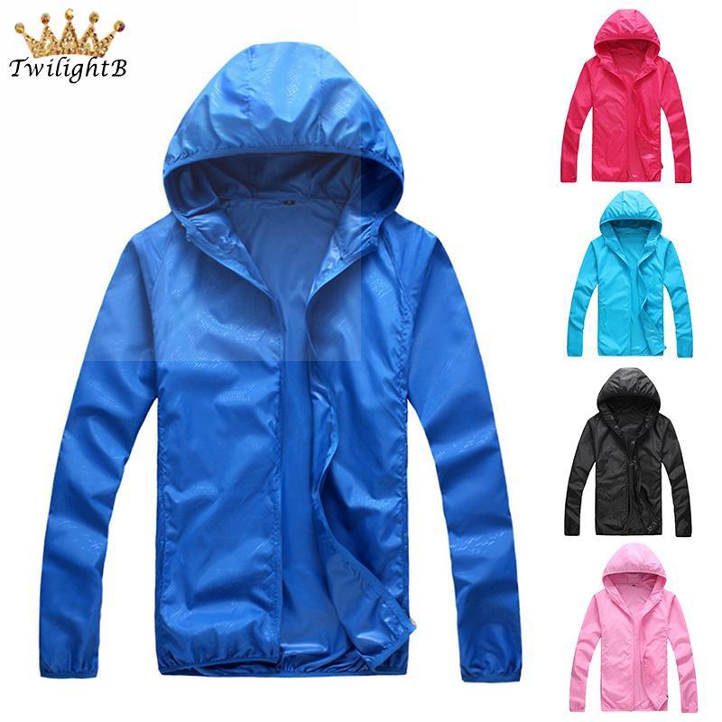 Mens Jacket Hoodie Thin Sports Quick Dry Windbreaker Coat Zip Up Hooded Outwear