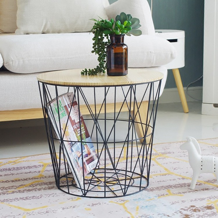 Coffee Table Side Table Wire Storage Basket Table/Storage basket ...